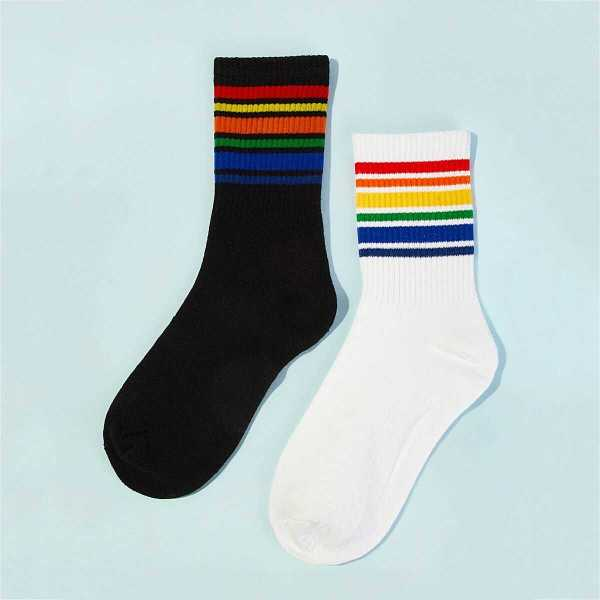 Men Striped Ankle Socks 2pairs - Shein - GOOFASH