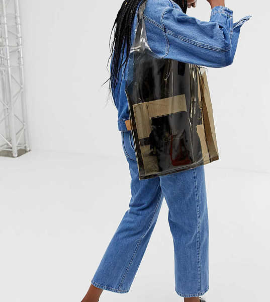 My Accessories London clear oversized shopper bag - Clear - Asos - GOOFASH