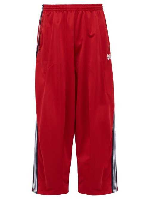 Needles - Butterfly Embroidered Track Pants - Red Red - Matches Fashion - GOOFASH