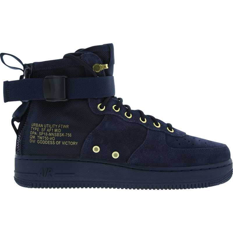 Nike SF Air Force 1 Mid Shoes Blue - Foot Locker - GOOFASH