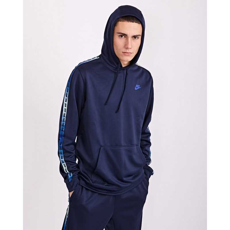 Nike Taped Over The Head Hoodies Blue - Foot Locker - GOOFASH