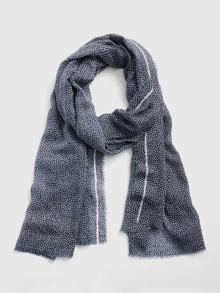 Oblong Polka Dot Scarf Navy - Gap - GOOFASH