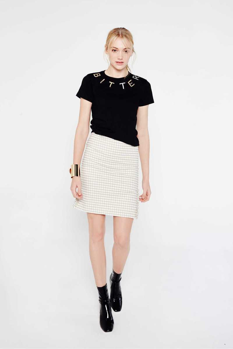 Ouor Checked Skirt With Side Splits And Frills - Own The Look - GOOFASH