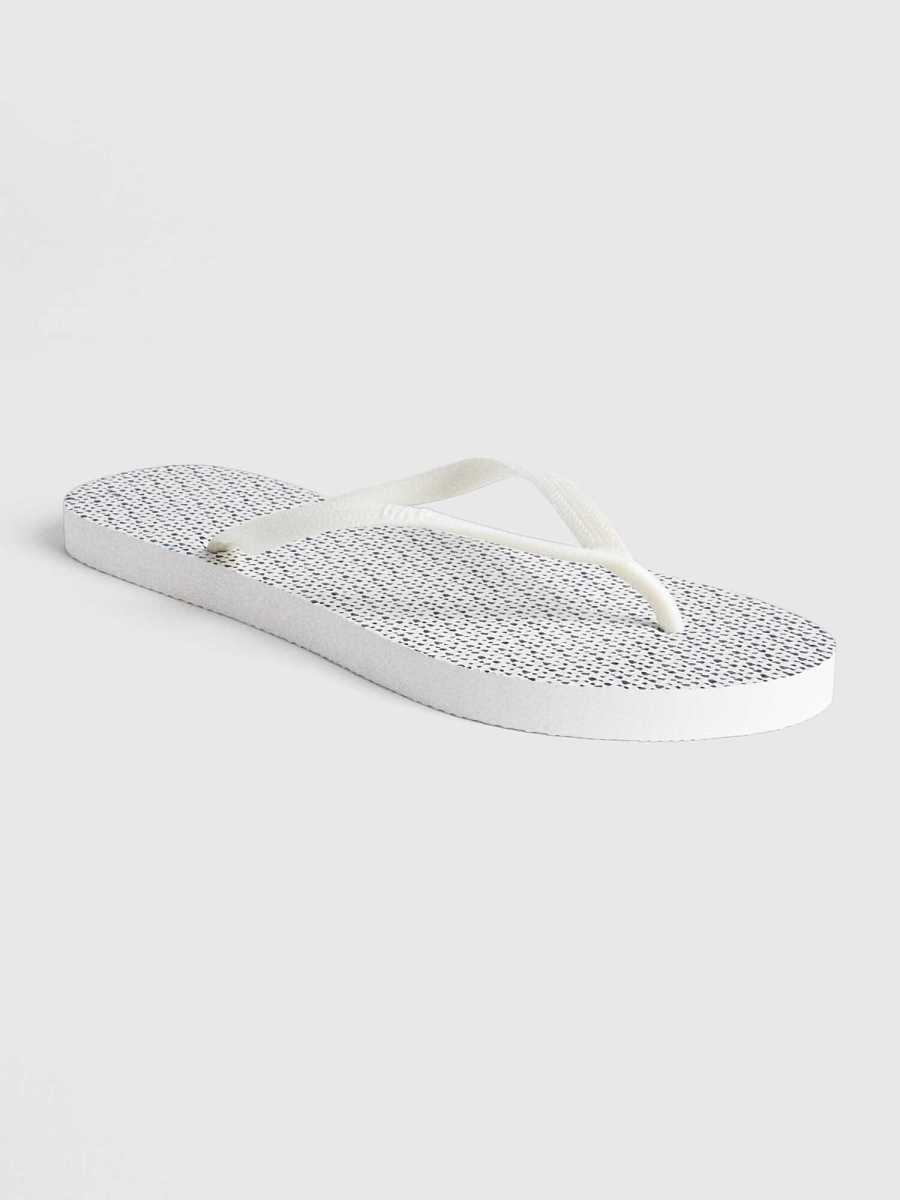 Print Flip Flops Tiny Heart White - Gap - GOOFASH