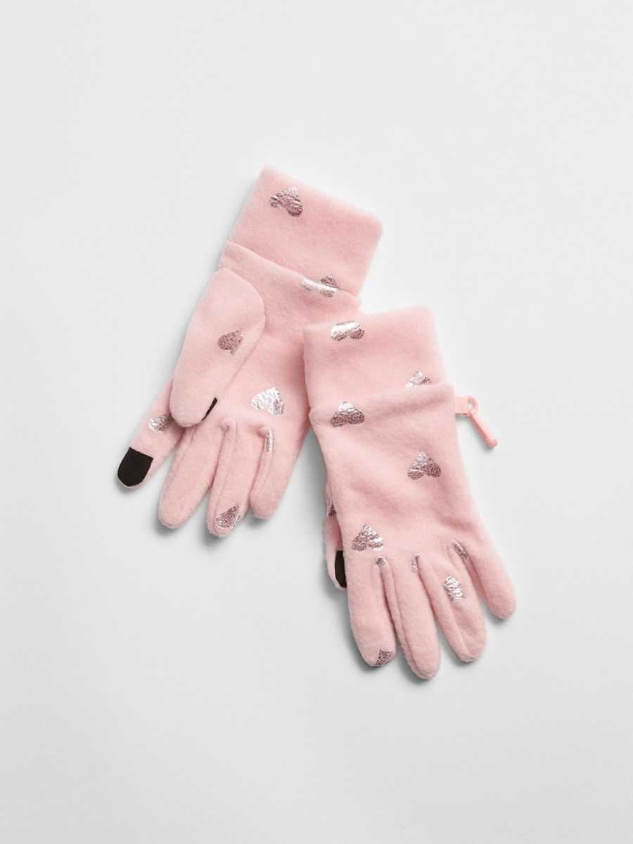 Print Tech Touch Gloves Pink Dust - Gap - GOOFASH