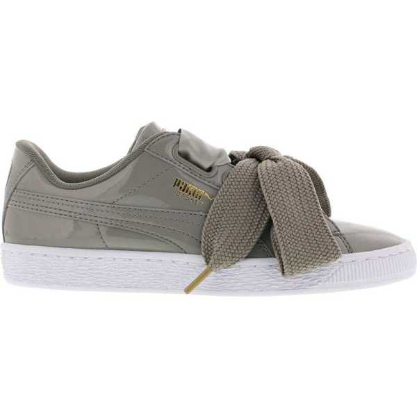 Puma BASKET HEART PATENT in Grey - Runners Point- GOOFASH