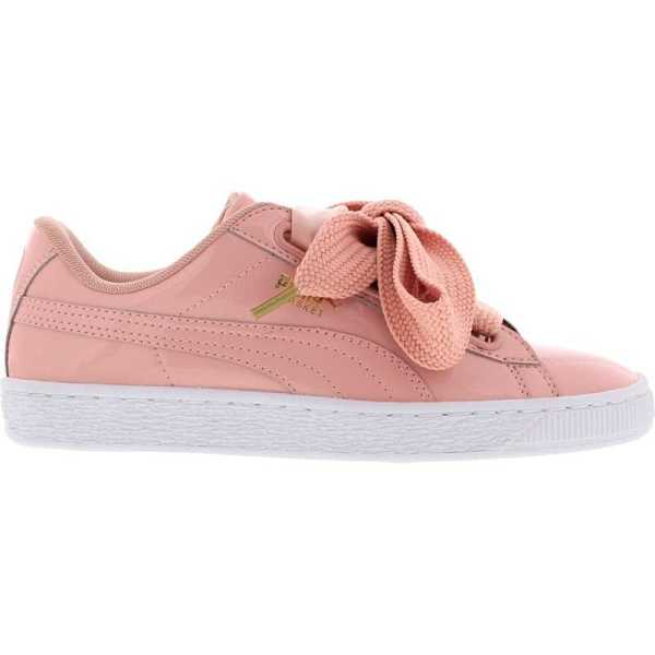 Puma BASKET HEART PATENT in Pink - Runners Point- GOOFASH