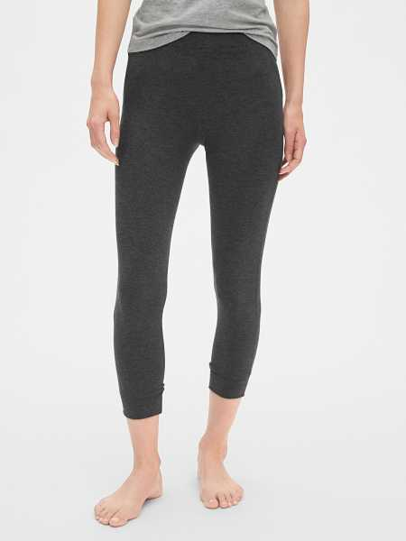 Pure Body crop leggings Charcoal - Gap - GOOFASH