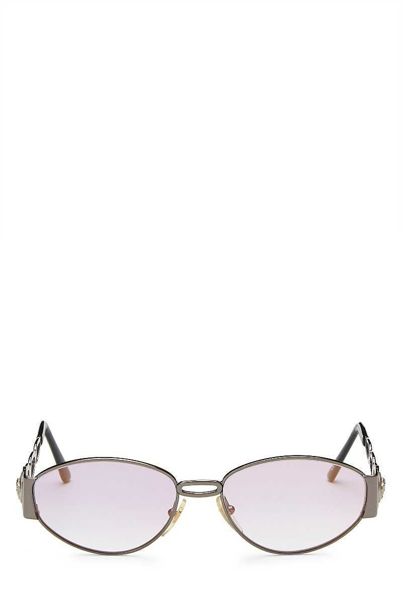 Purple Metal Sunglasses - What Goes Around Comes Around - GOOFASH