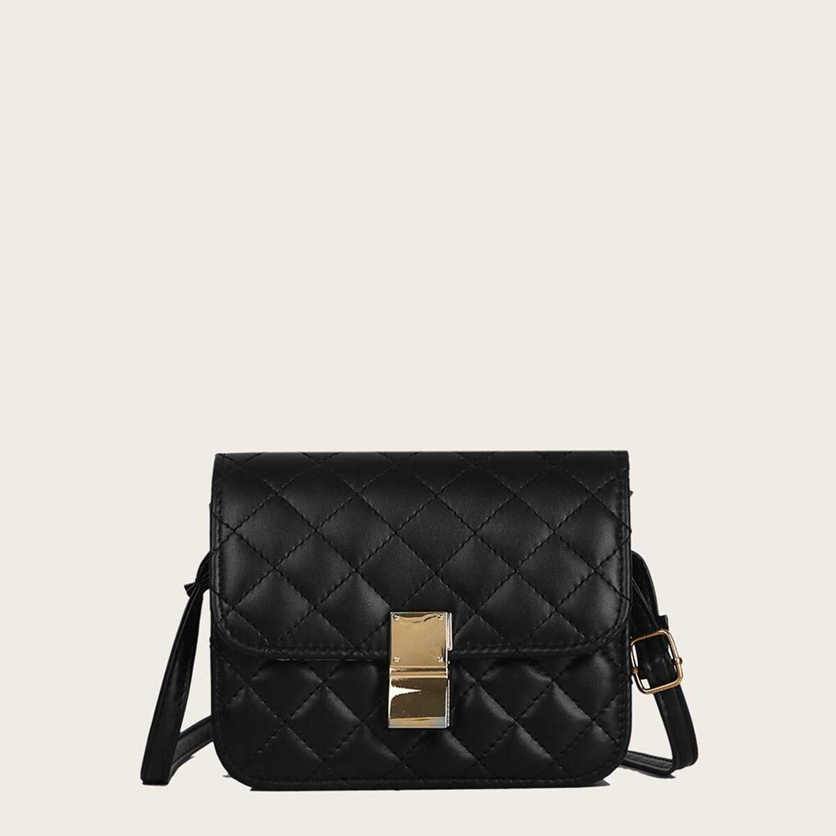 Quilted Flap Crossbody Bag - Shein - GOOFASH