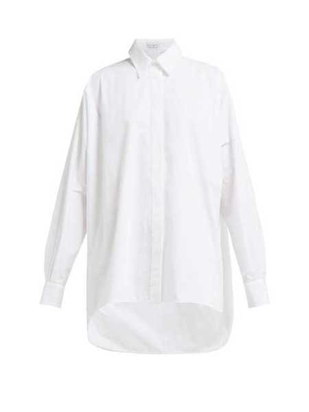 Raey - Batwing Sleeve Cotton Shirt - White White - Matches Fashion - GOOFASH
