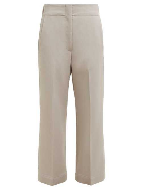 Raey - Elasticated Back Wool Blend Trousers - Grey Grey - Matches Fashion - GOOFASH