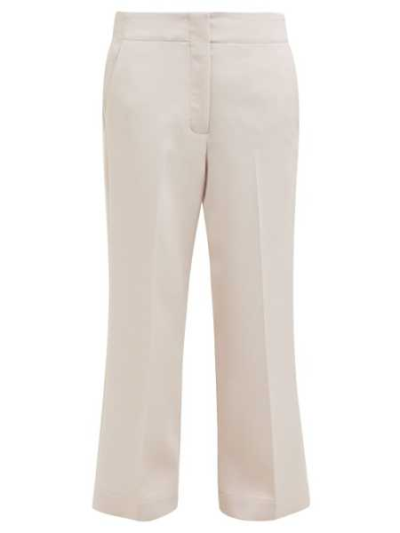 Raey - Elasticated Back Wool Blend Trousers - Pink Pink - Matches Fashion - GOOFASH