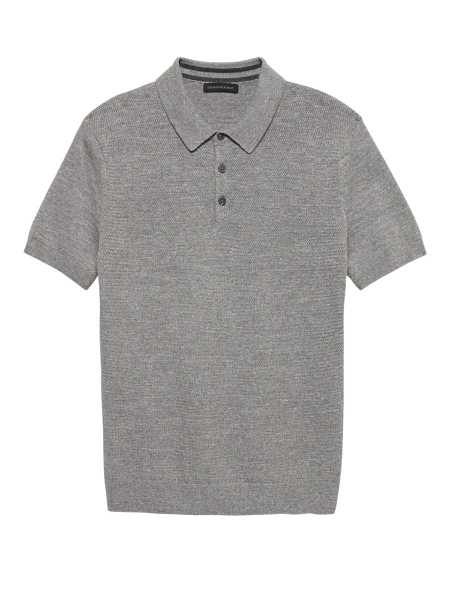 SUPIMA® Cotton Sweater Polo - Banana Republic - GOOFASH