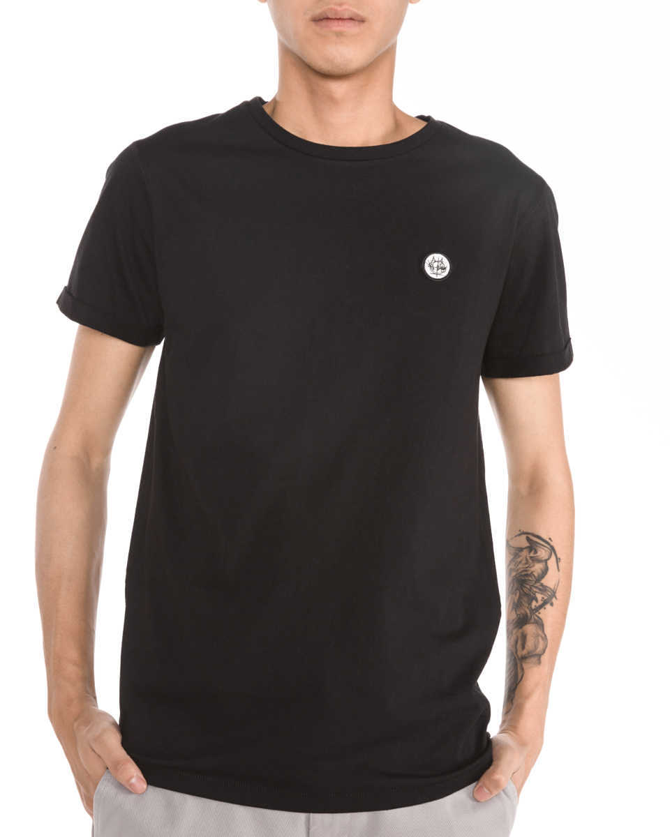 Scotch & Soda T-shirt Black GOOFASH 257699