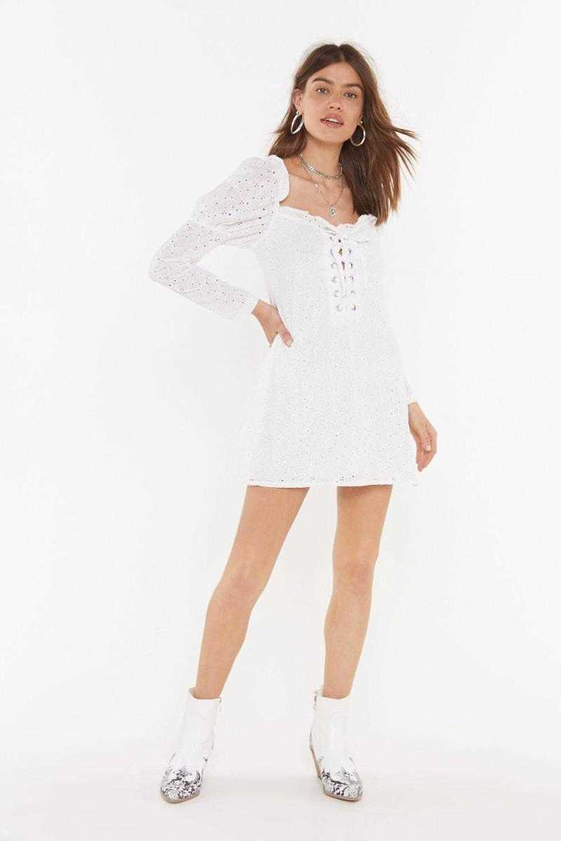 Sew What Broderie Anglaise Mini Dress - Nasty Gal - GOOFASH