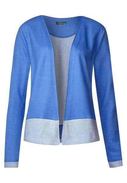 Shirt jacket with color detail - sky blue - Street One - GOOFASH
