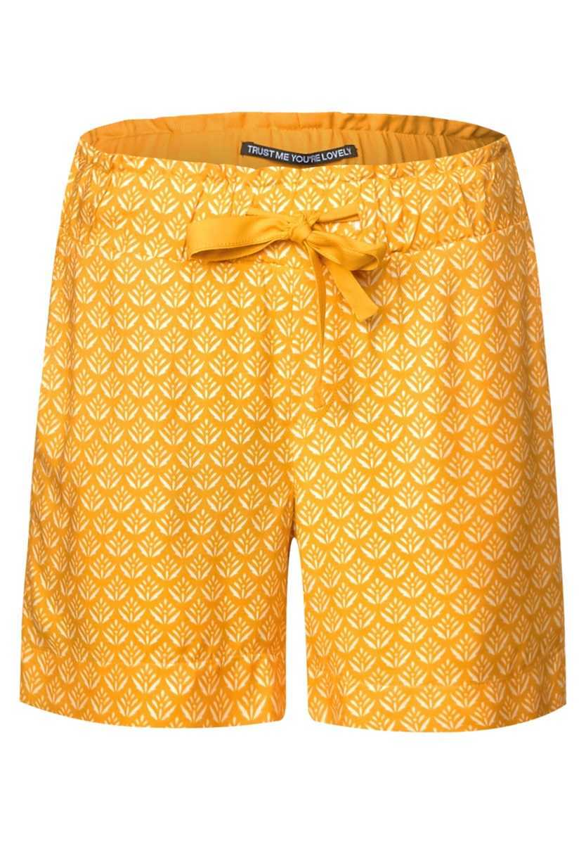 Shorts with allover print - bright clementine - Street One - GOOFASH