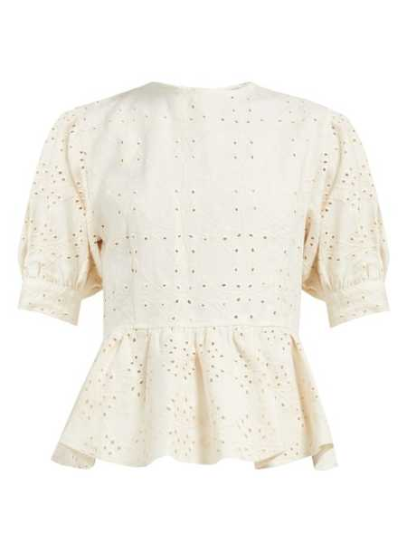 Sir - Cherie Broderie Anglaise Linen Top - Cream Cream - Matches Fashion - GOOFASH