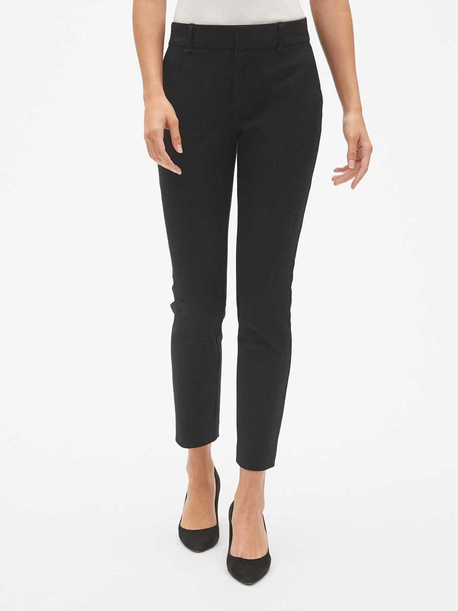 Skinny Ankle Pants with Secret Smoothing Pockets Black - Gap - GOOFASH