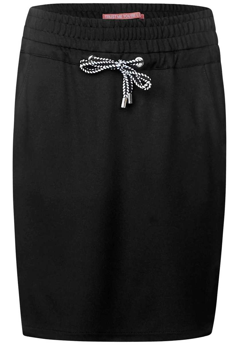Skirt with contrast stripes - Black - Street One - GOOFASH