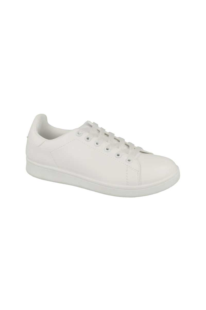 Spot On Iridescent Lace Up White Sneaker - White - Own The Look - GOOFASH