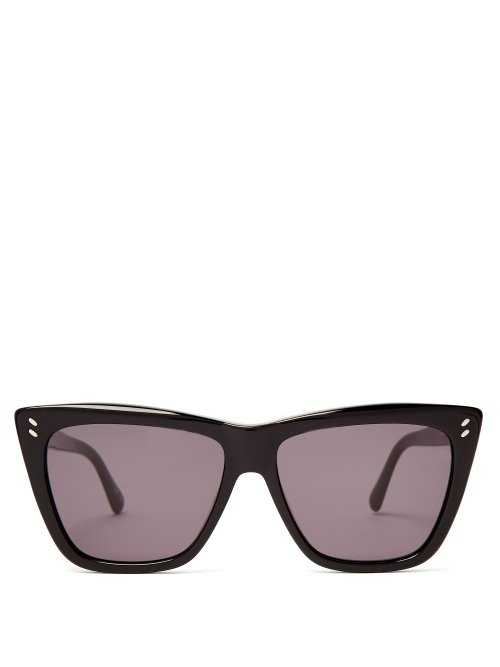 Stella Mccartney - Cat Eye Acetate Sunglasses - Black Black - Matches Fashion - GOOFASH