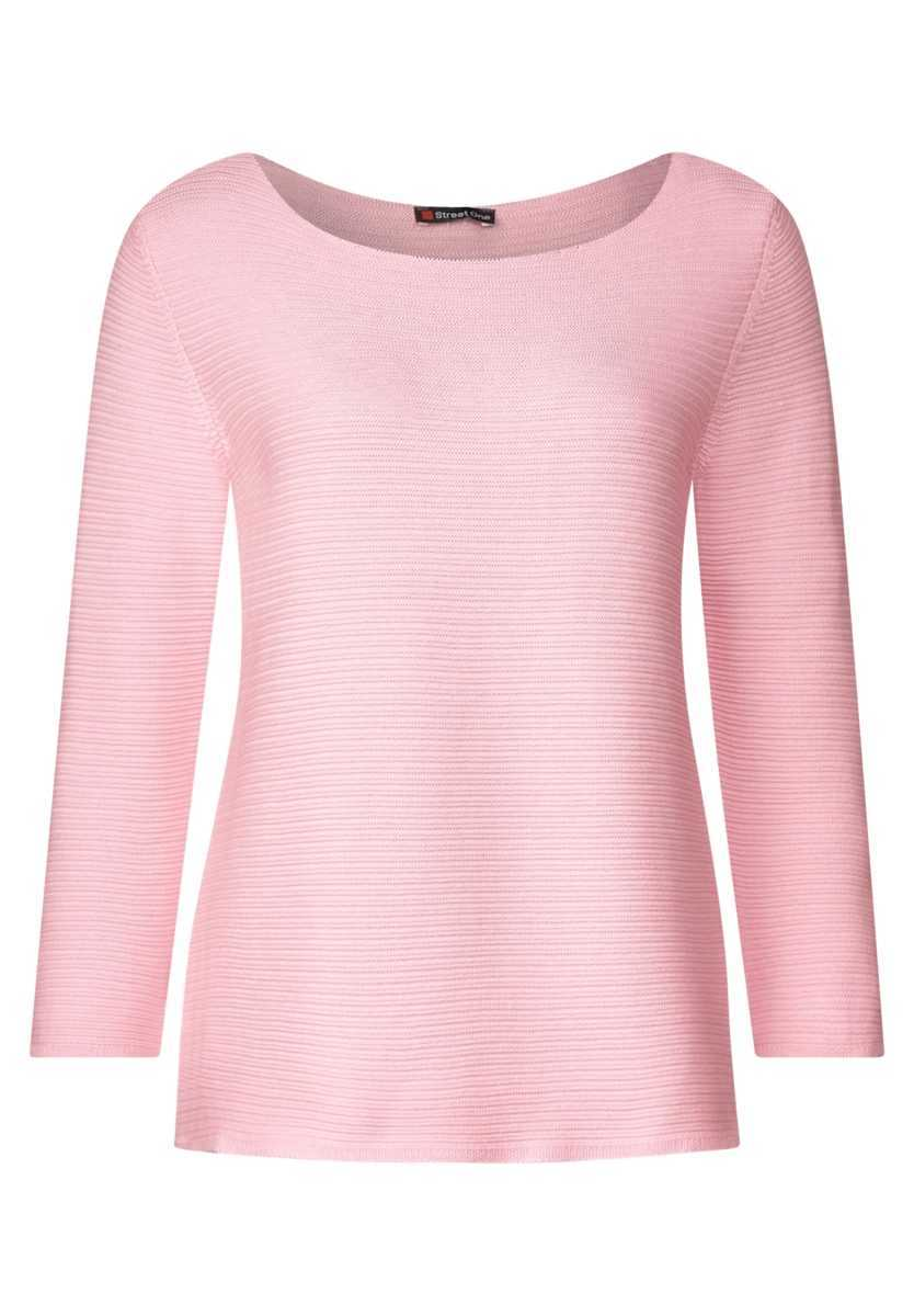 Structure sweater - blossom rose - Street One - GOOFASH