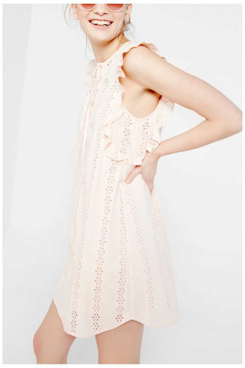 Sugar & Lips Lace Mini Dress With Tie Front Detail - Own The Look - GOOFASH