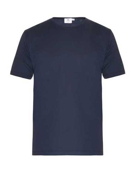 Sunspel - Crew Neck Cotton Jersey T Shirt - Blue Blue - Matches Fashion - GOOFASH