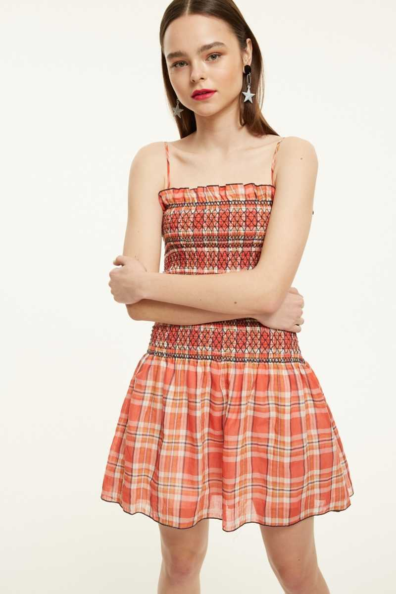 The East Order Shirred Mini Dress With Frill Hem - Own The Look - GOOFASH