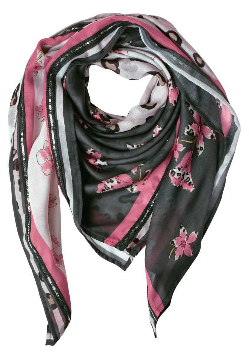 Triangle scarf with print - chilled green - Street One - GOOFASH