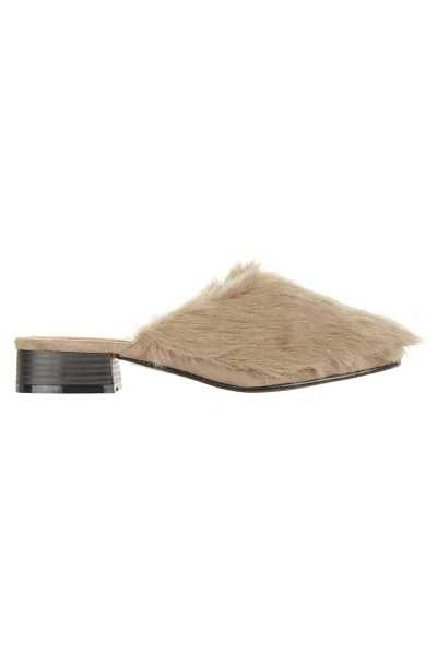 Truffle Collection Faux Fur Slider - Beige - Own The Look - GOOFASH