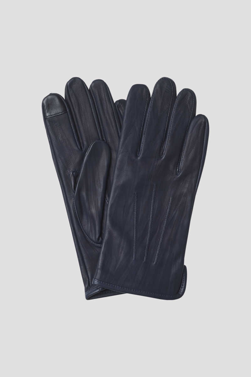 Unlined Leather Gloves Blue - Filiappa K - GOOFASH