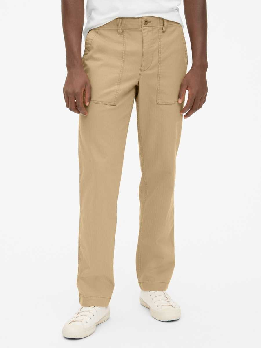 Utility Pants in Straight Fit with GapFlex Tan - Gap - GOOFASH