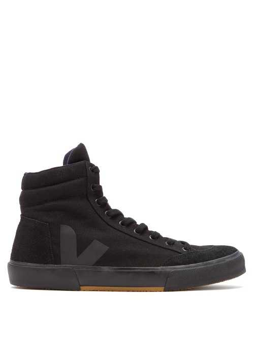 Veja - X Lemaire Boots High Top Canvas Trainers - Black Black - Matches Fashion - GOOFASH
