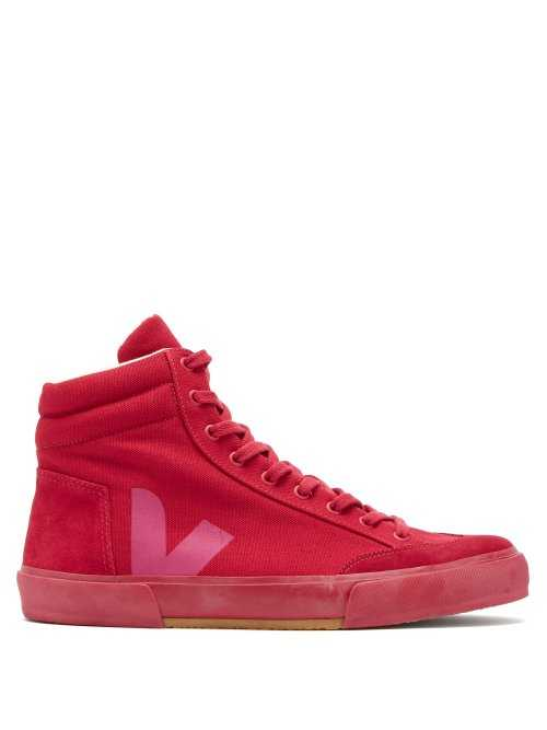 Veja - X Lemaire Boots High Top Canvas Trainers - Red Red - Matches Fashion - GOOFASH