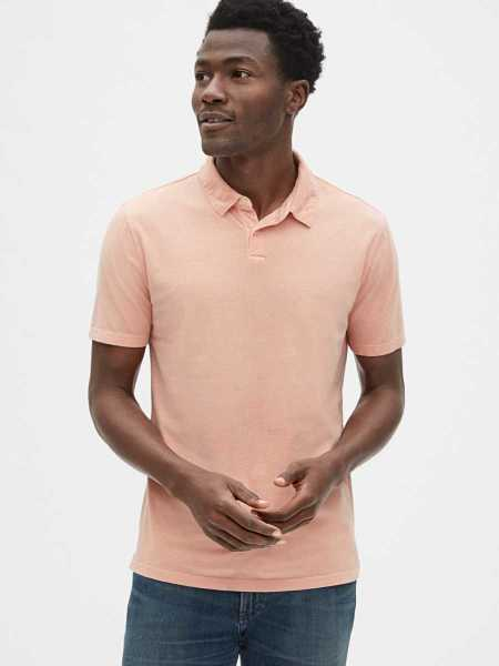 Vintage Soft Polo Shirt Shirt Blush Pink - Gap - GOOFASH