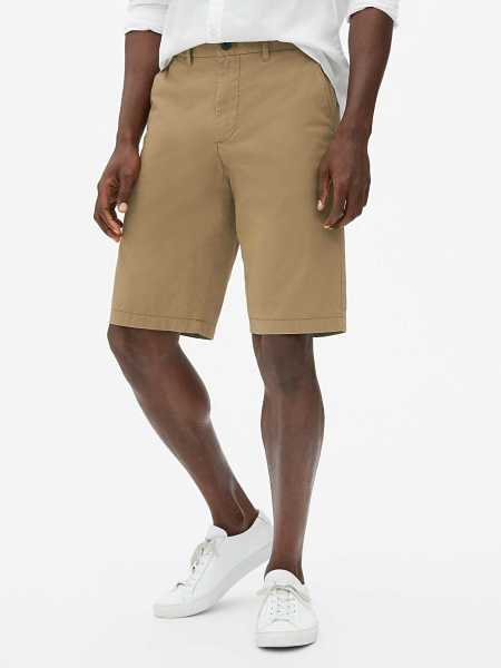 "Wearlight 10"" Khaki Shorts Maple Sugar - Gap - GOOFASH"
