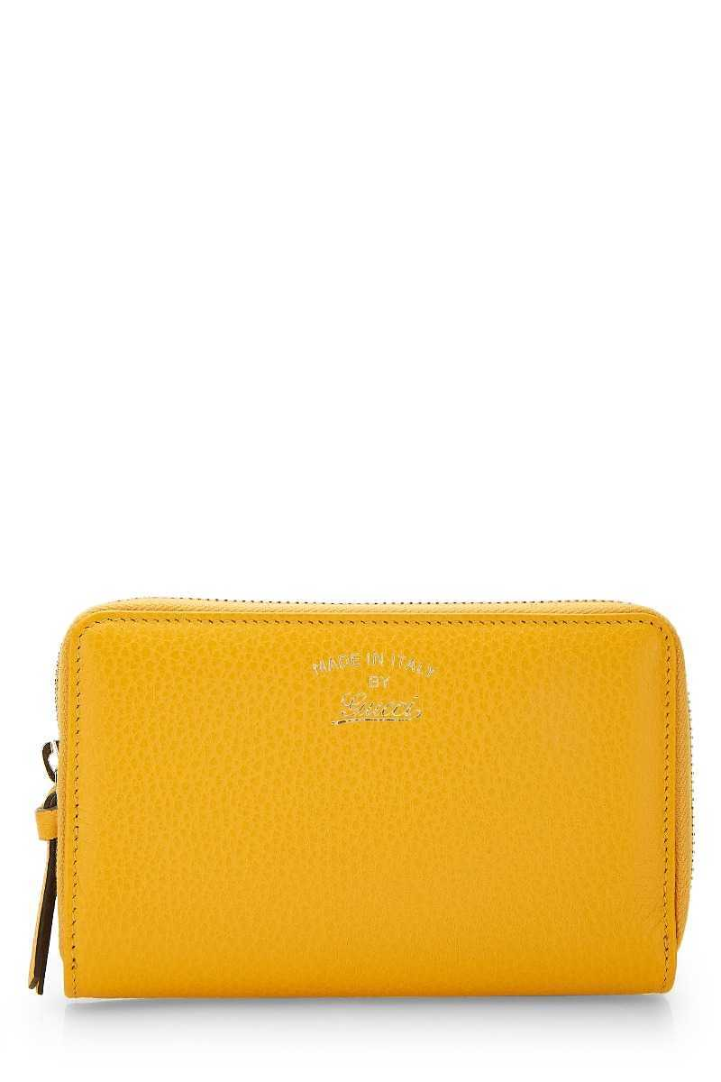Yellow Leather Swing Wallet - What Goes Around Comes Around - GOOFASH