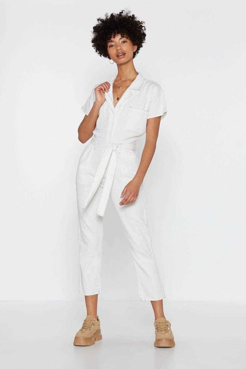 You Thread It Denim Boilersuit - Nasty Gal - GOOFASH