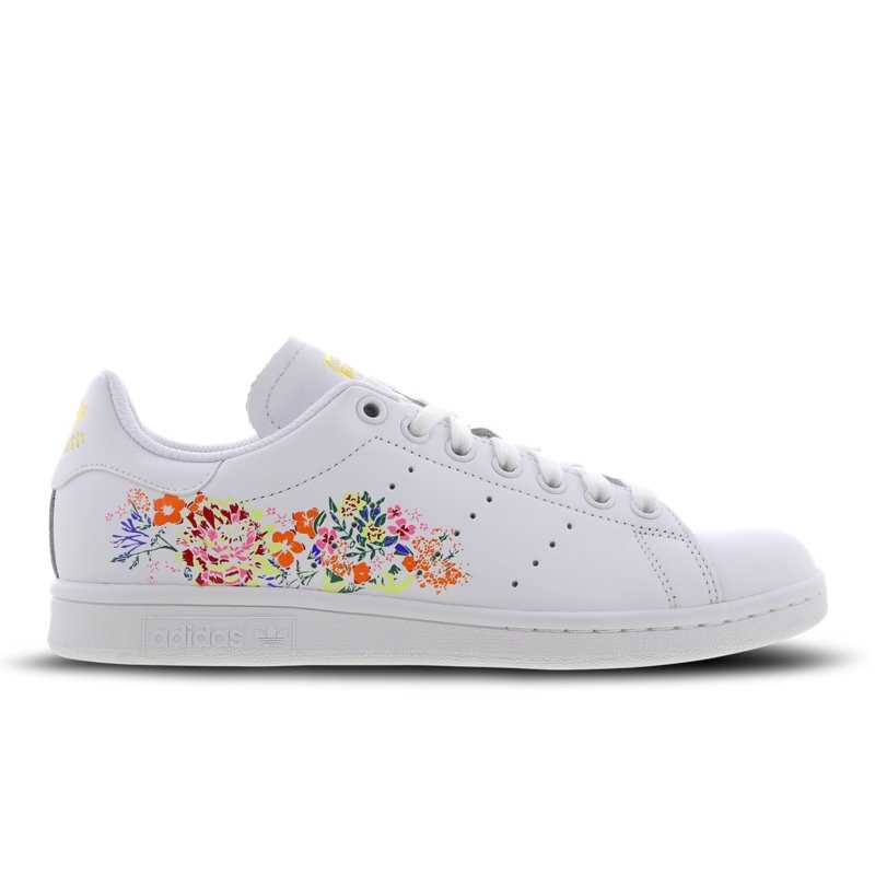 adidas Stan Smith Flower Embroidery Shoes White - Foot Locker