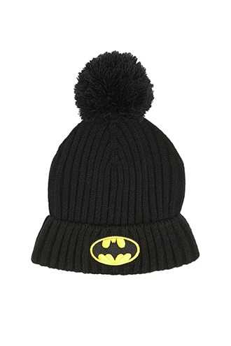 Batman Patch Foldover Beanie at Forever 21  Black/yellow - GOOFASH