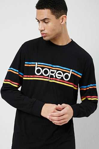 Bored Graphic Tee at Forever 21  Black/multi - GOOFASH