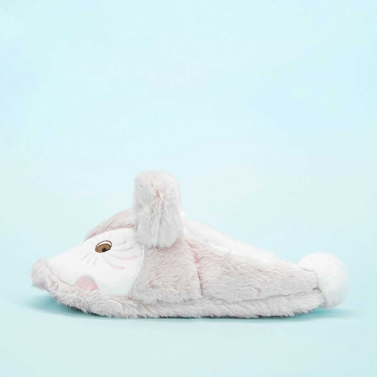 Cartoon Ear Decor Fluffy Slippers - Shein - GOOFASH