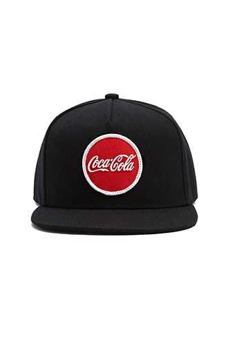 Coca-Cola Graphic Snapback Hat at Forever 21  Black/red - GOOFASH