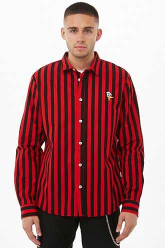Donald Duck Striped Shirt at Forever 21  Red/black - GOOFASH