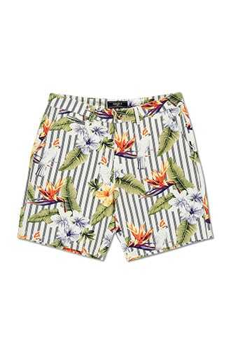Floral & Striped Shorts at Forever 21  White/multi - GOOFASH
