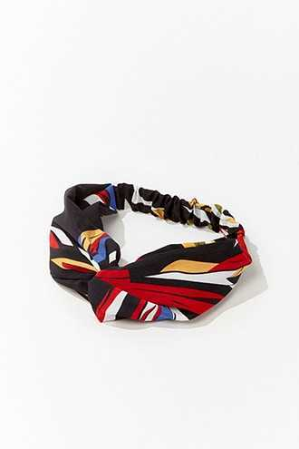 Forever 21 Abstract Print Headwrap  Black/multi - GOOFASH