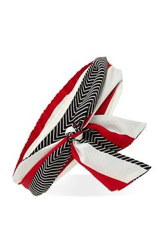 Forever 21 Abstract Stripe Headwrap  Red/multi - GOOFASH